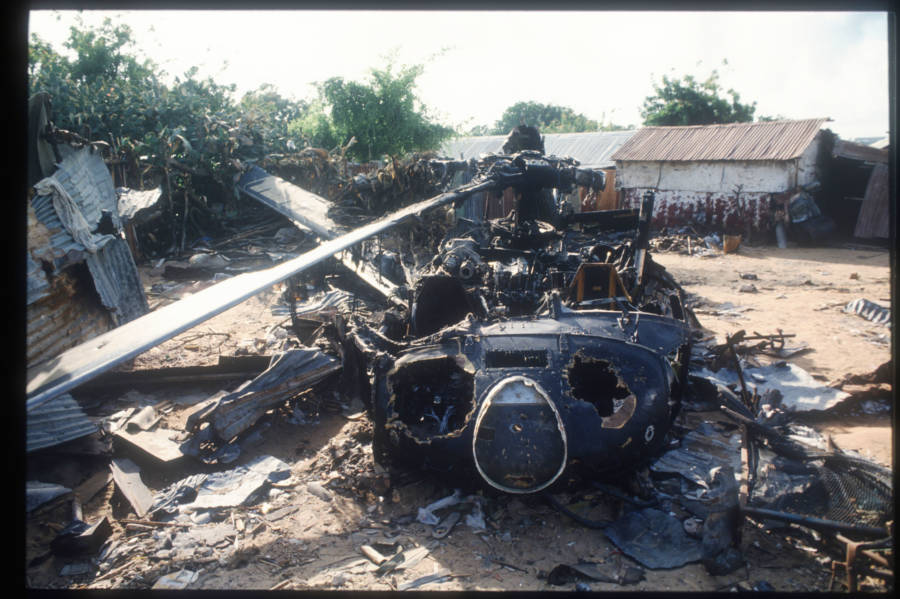 Wreckage Black Hawk