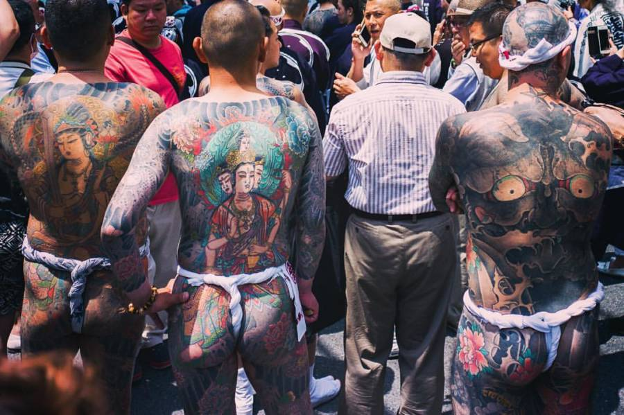 Yakuza With Back Tattoos