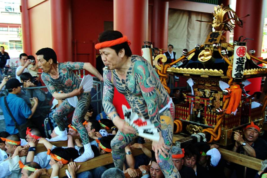 Yakuza At Sanja Matsuri Festival