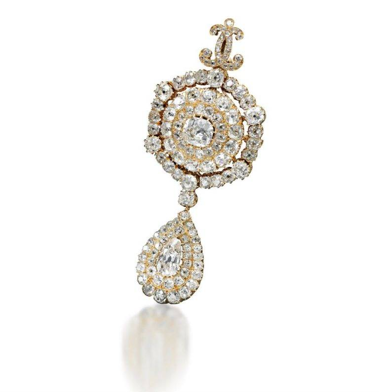 Diamond Brooch Bourbon Parma
