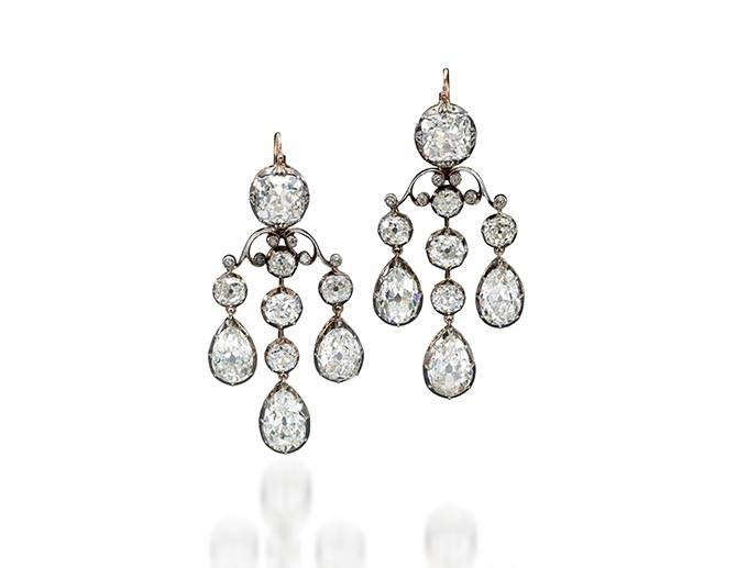 Diamond Earrings Bourbon Parma