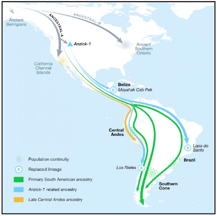 Map Of Early American Migration
