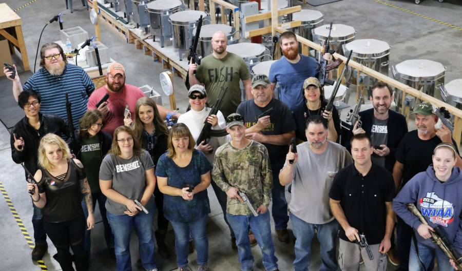 Benshot Employees Guns