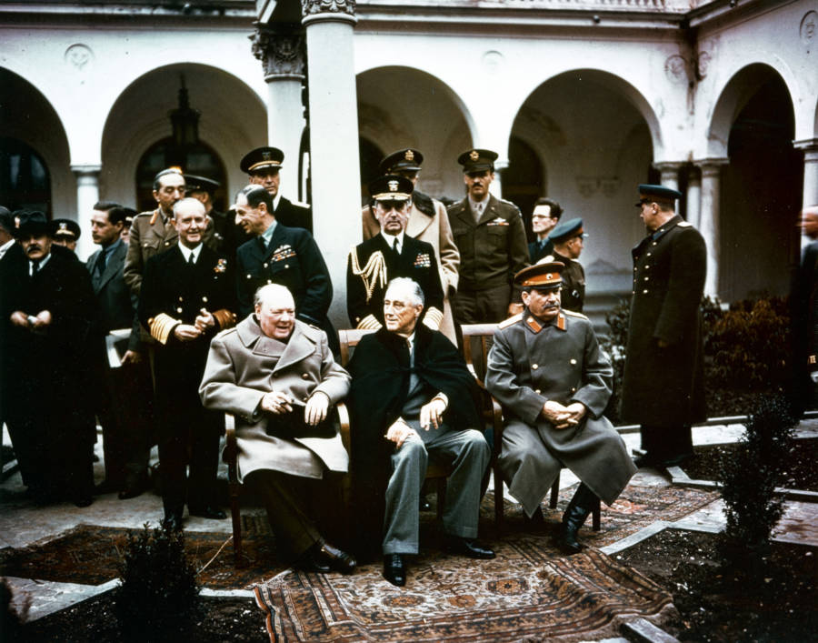Big Three At Yalta Conference
