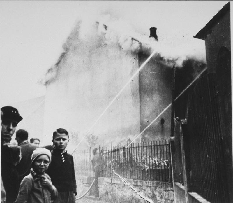 Children Looking At Fire