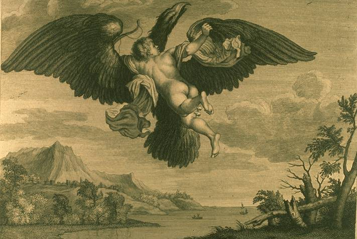Ganymede Abducted By Zeus