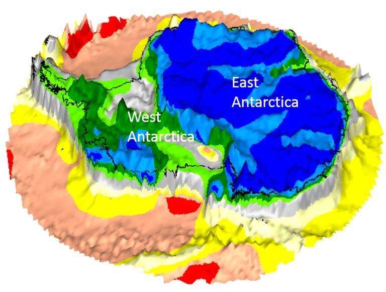 Goce Map Of Antarctica