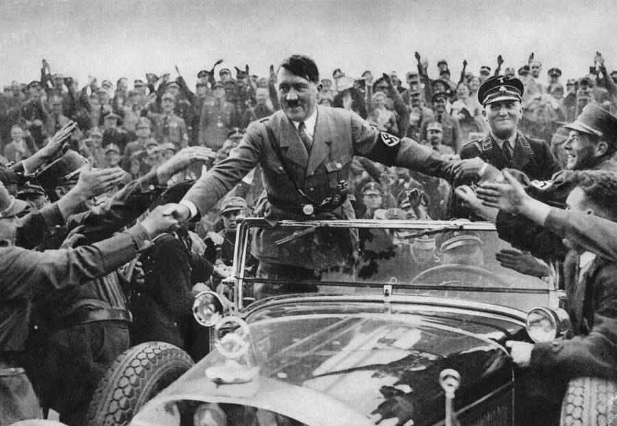Hitler In Crowd 1933