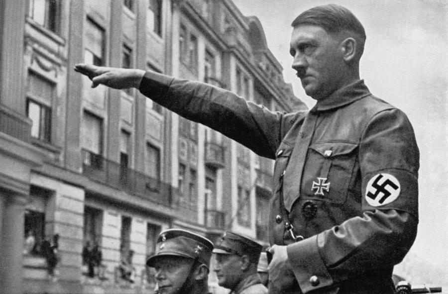 Hitler Saluting