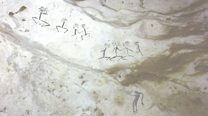 Human Figure Paintings In Borneo