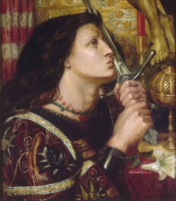 Joan Of Arc With Her Sword