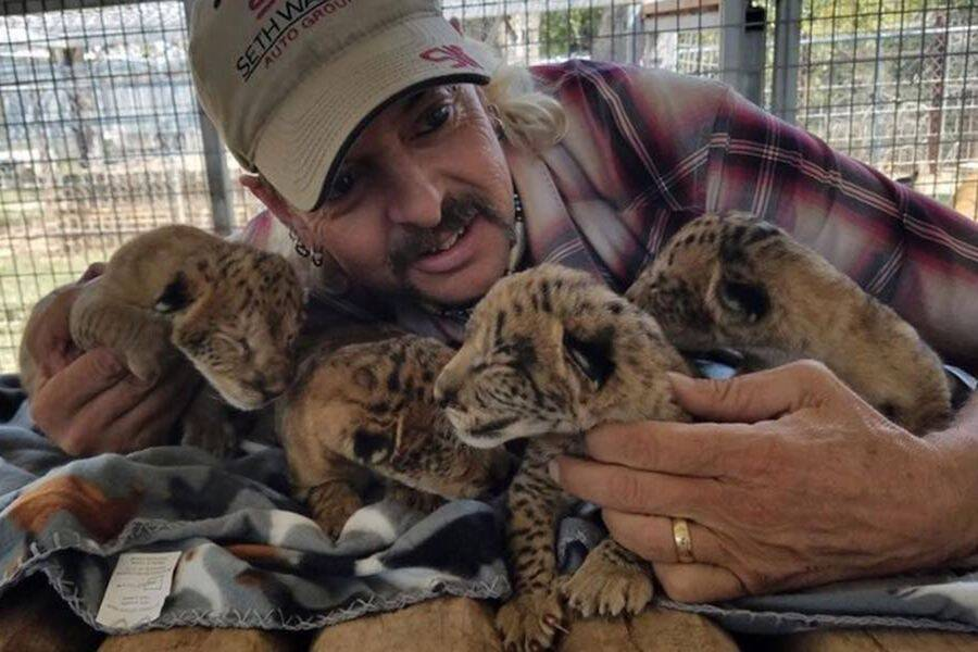 Joe Exotic With Baby Tigers