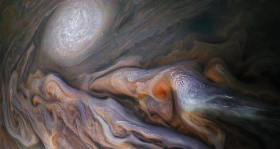 NASA's New Jupiter Photos Have People Seeing All Kinds Of Things In The Planet's Infamous Clouds