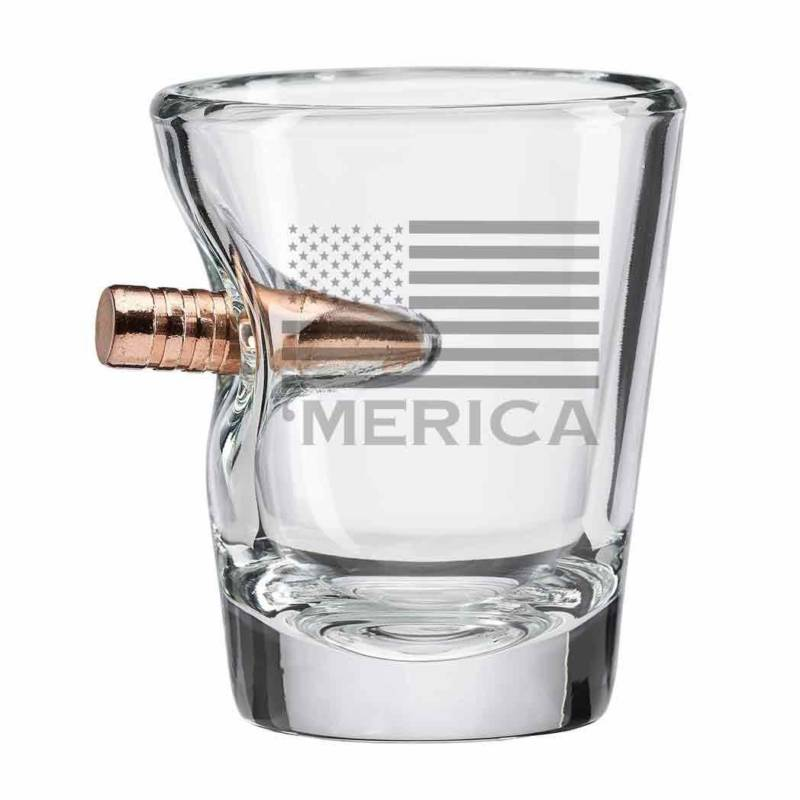 Merica Bullet Shot Glass