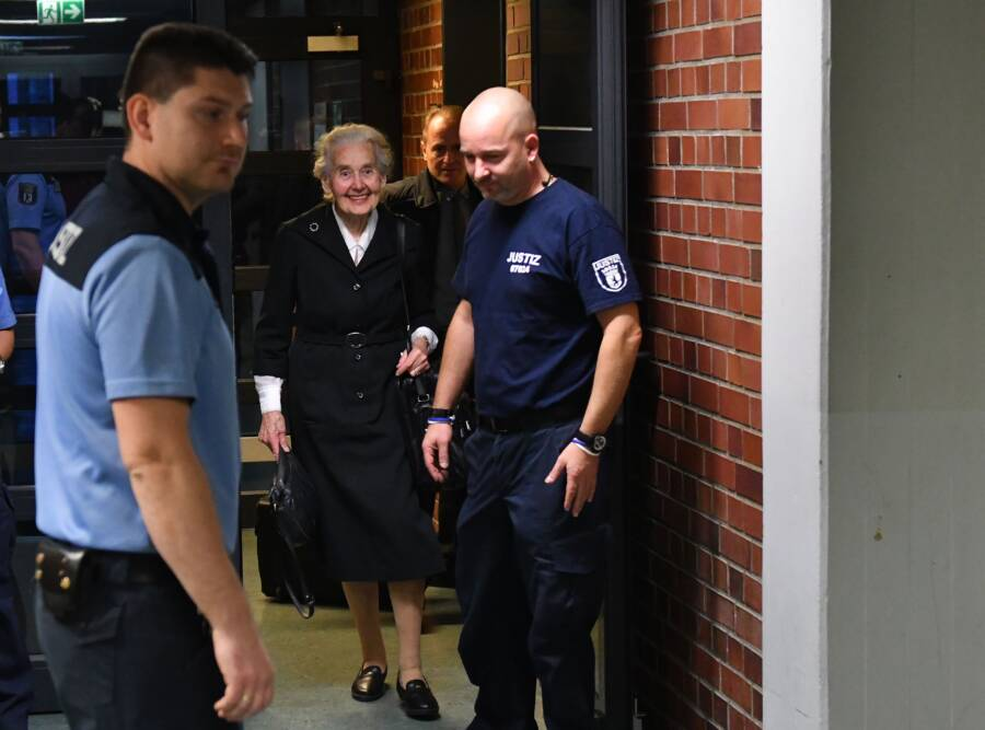 Nazi Grandma Escorted Into Court