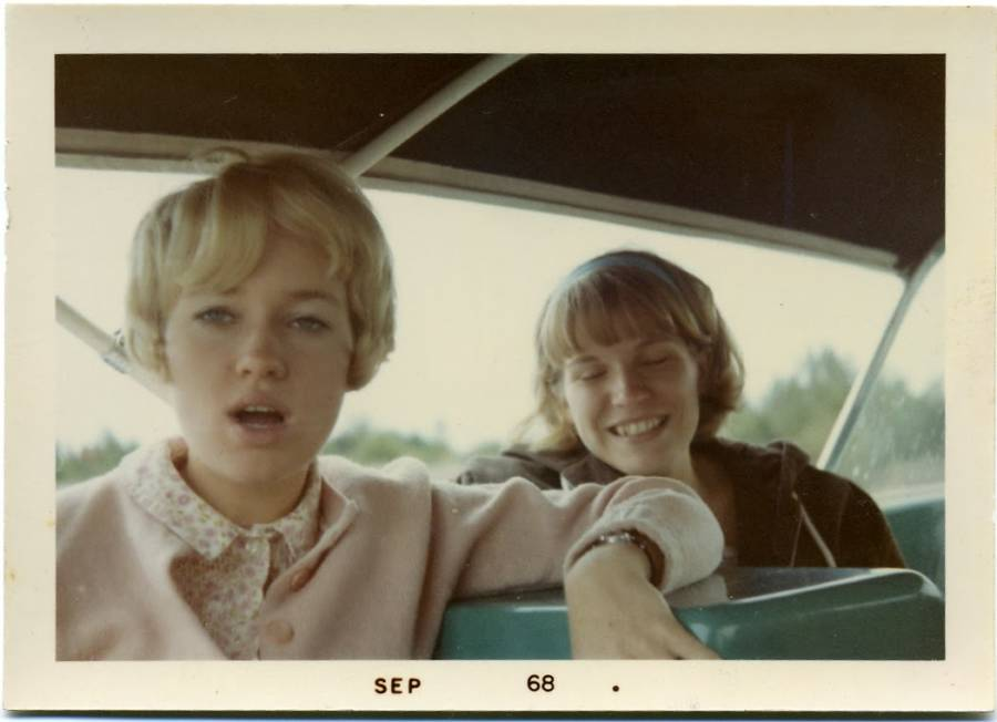 Polaroid Blond Girl Vintage And Friend 1960s