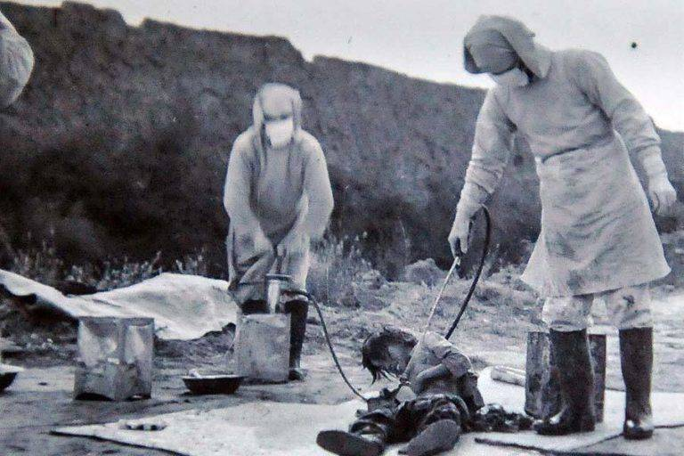 Unit 731 Hosing Down Man