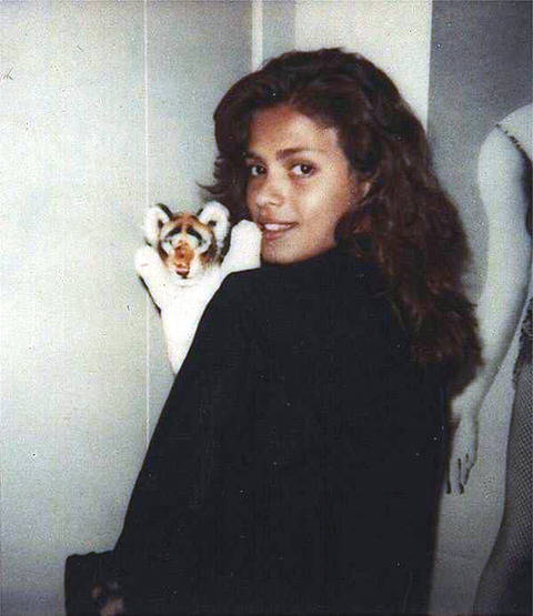 Young Gia With Stuffed Animal