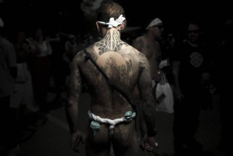 Yakuza Tattoo At Sanja Matsuri
