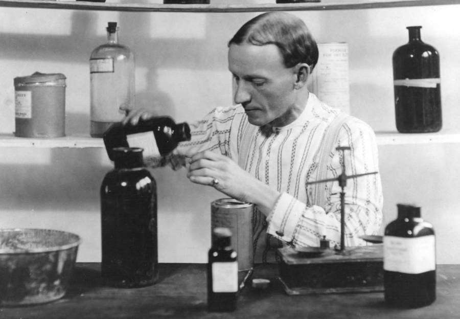 Charles Hatfield Mixing Chemicals