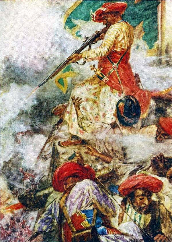 Tipu Sultan Fighting