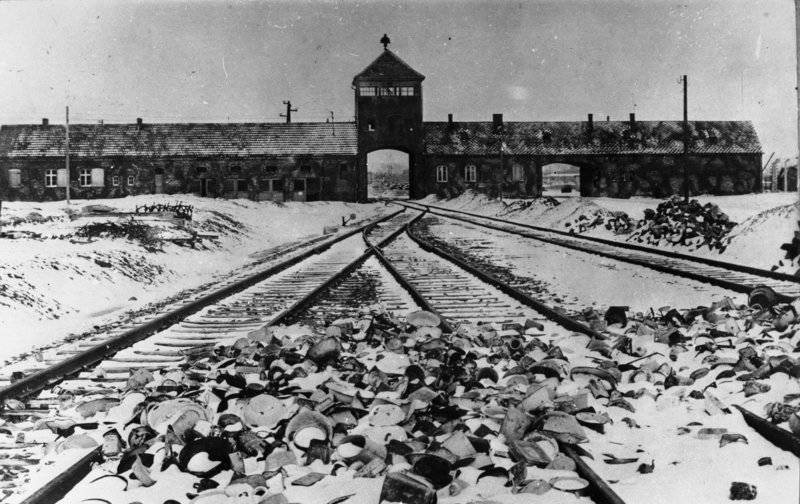 Auschwitz Pictures Then