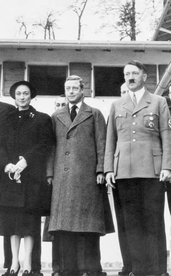 Duke And Duchess Of Windsor With Hitler