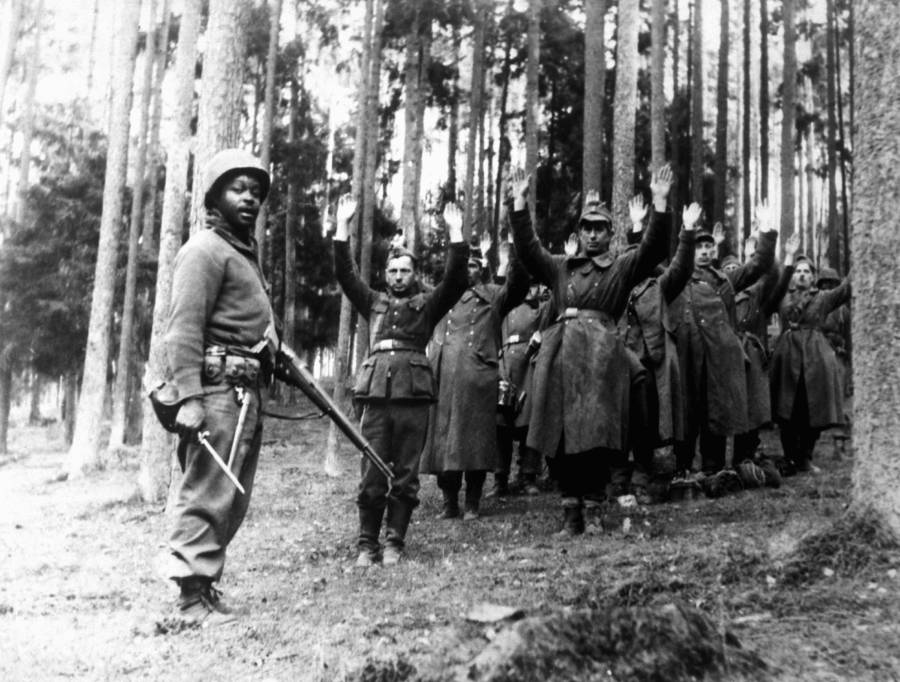 German POWs From The Battle Of The Bulge