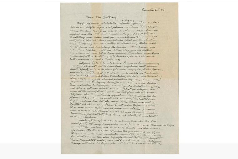 God Letter Albert Einstein
