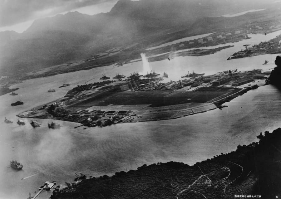 Pearl Harbor Attack Aerial Photo