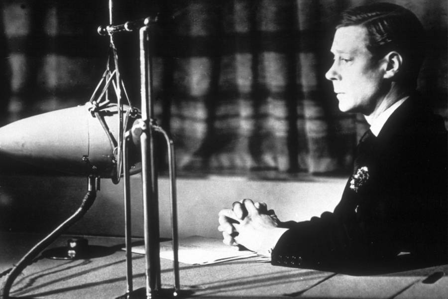 King Edward VIII Makes A Broadcast