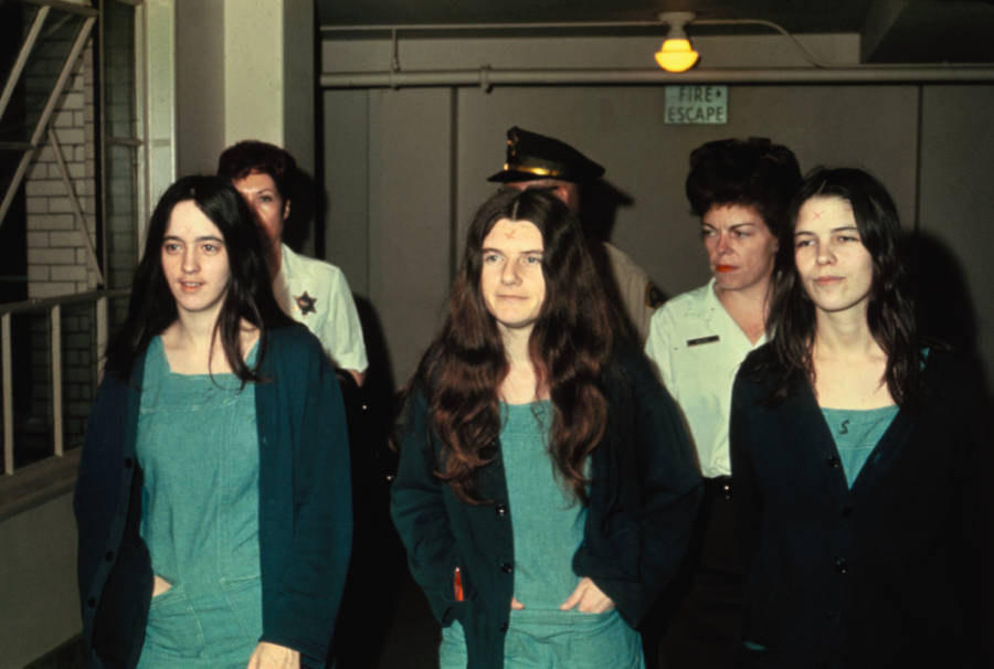 Manson Family Members Walk Into Court