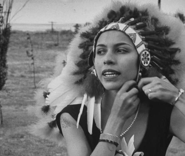 Maria Tallchief Wearing A Headdress