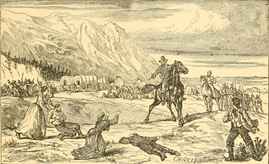 Depiction Of The Mountain Meadows Massacre