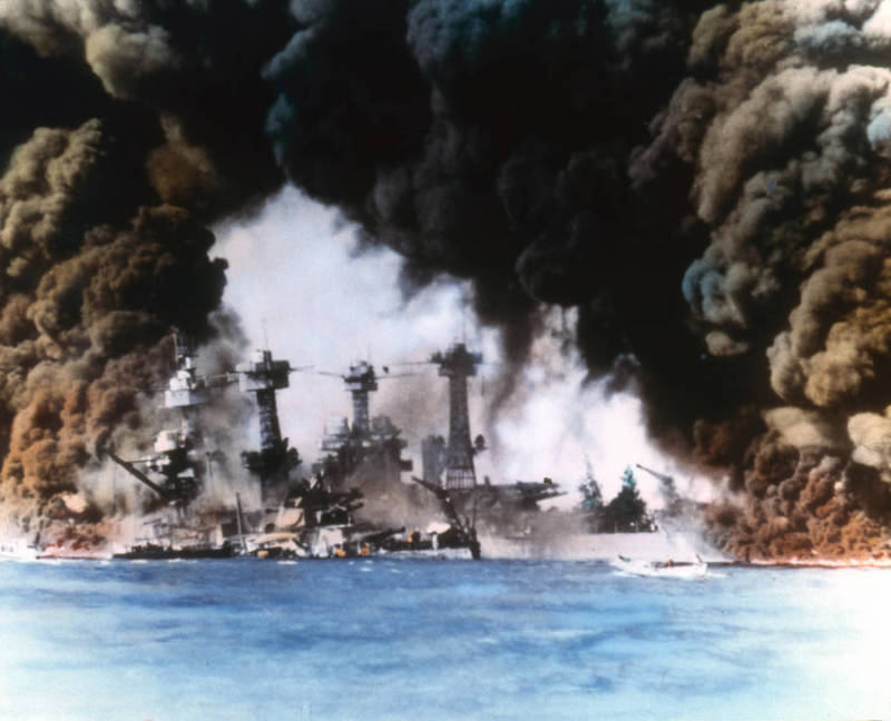 Pearl Harbor Attack Smoke