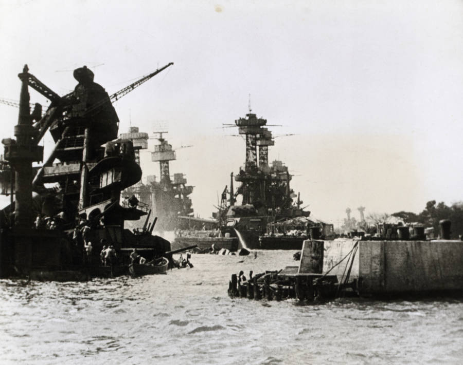 Ships Damaged During Pearl Harbor Attack