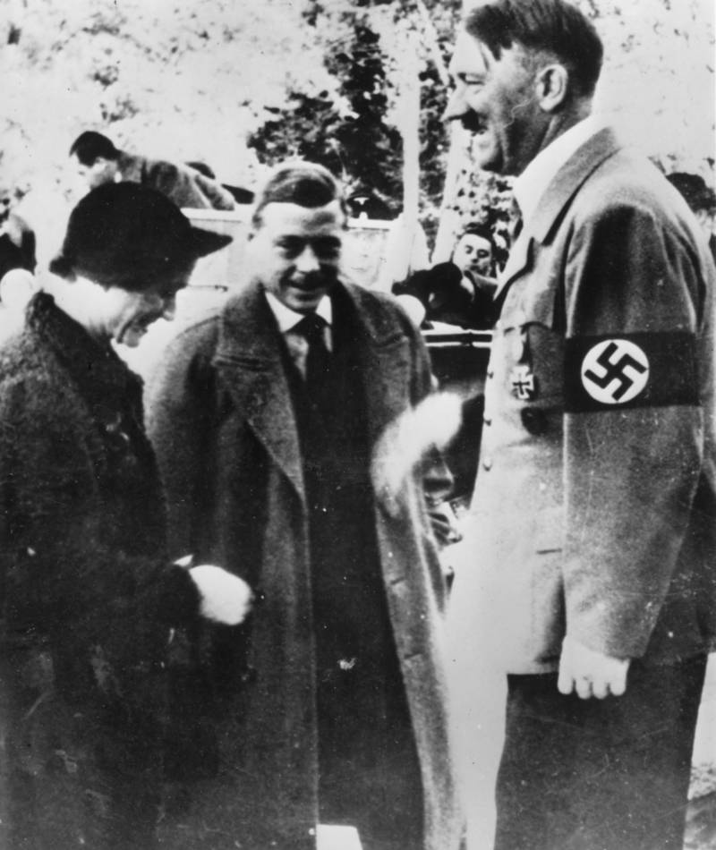 Edward VIII With Hitler