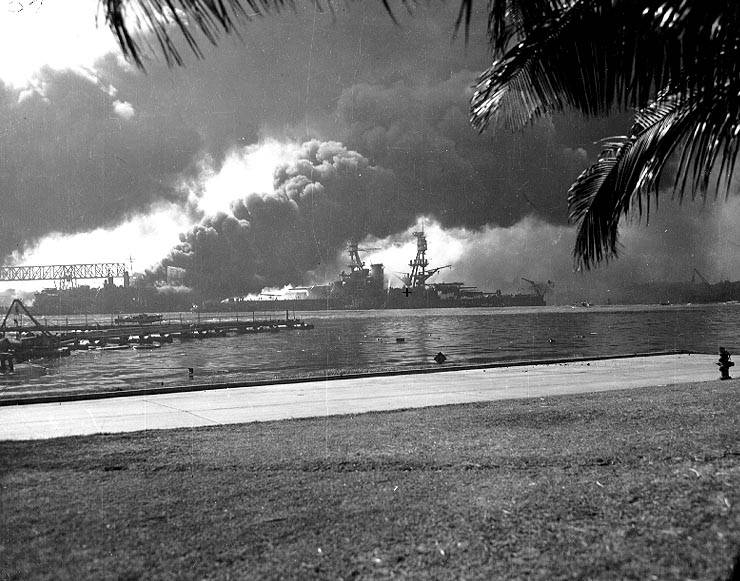 Uss Nevada Burning