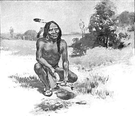 Squanto Teaching Pilgrims
