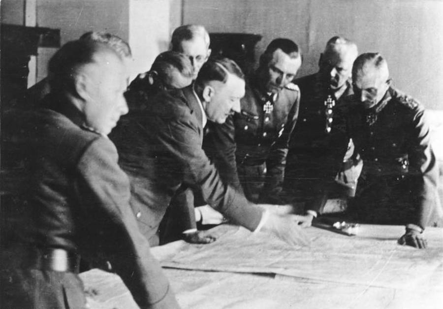 Hitler Strategizing War Plans