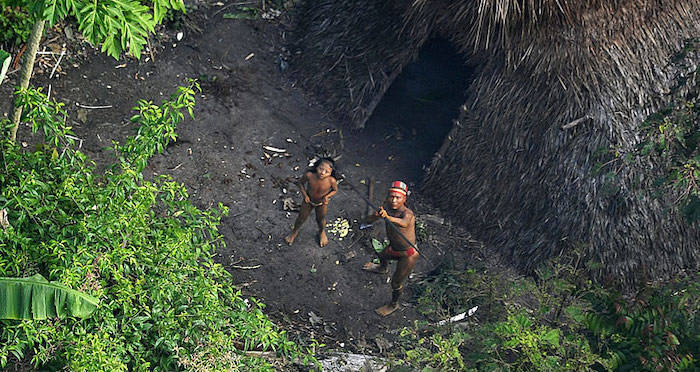 Isolated Natives Shooting Arrows