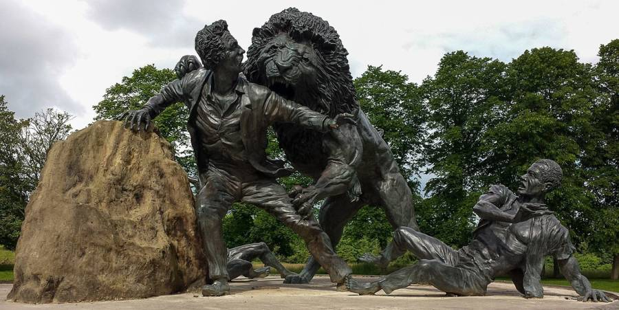 David Livingstone Lion Statue