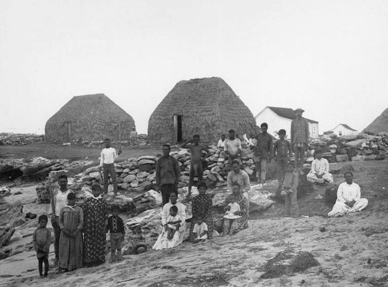 Niihau Villagers Blackandwhite