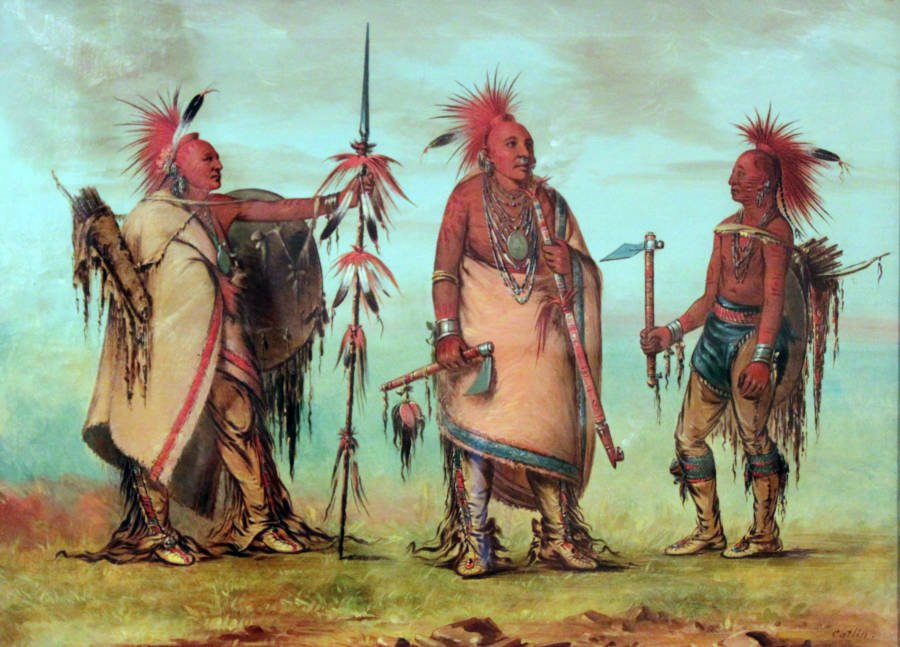 Osage Tribe By George Caitlin