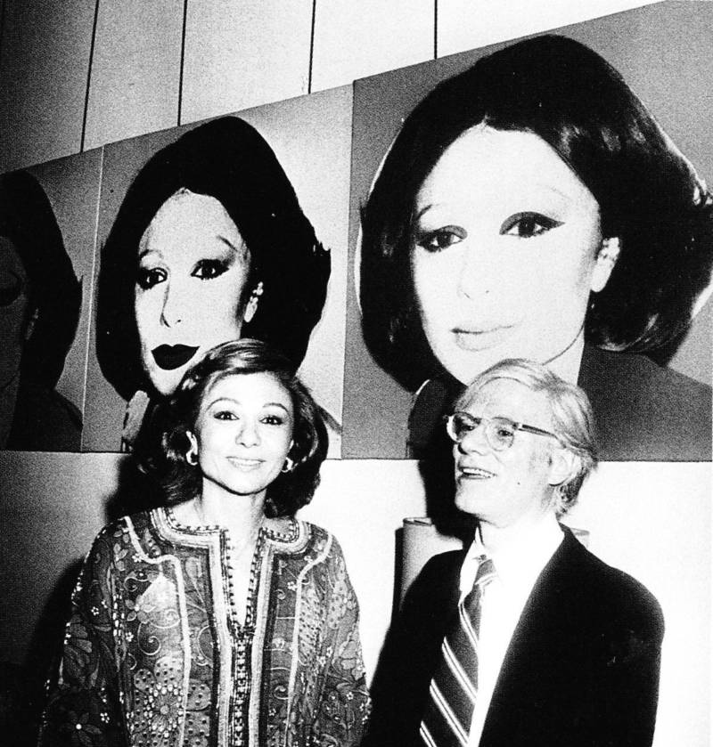 Farah Pahlavi And Andy Warhol