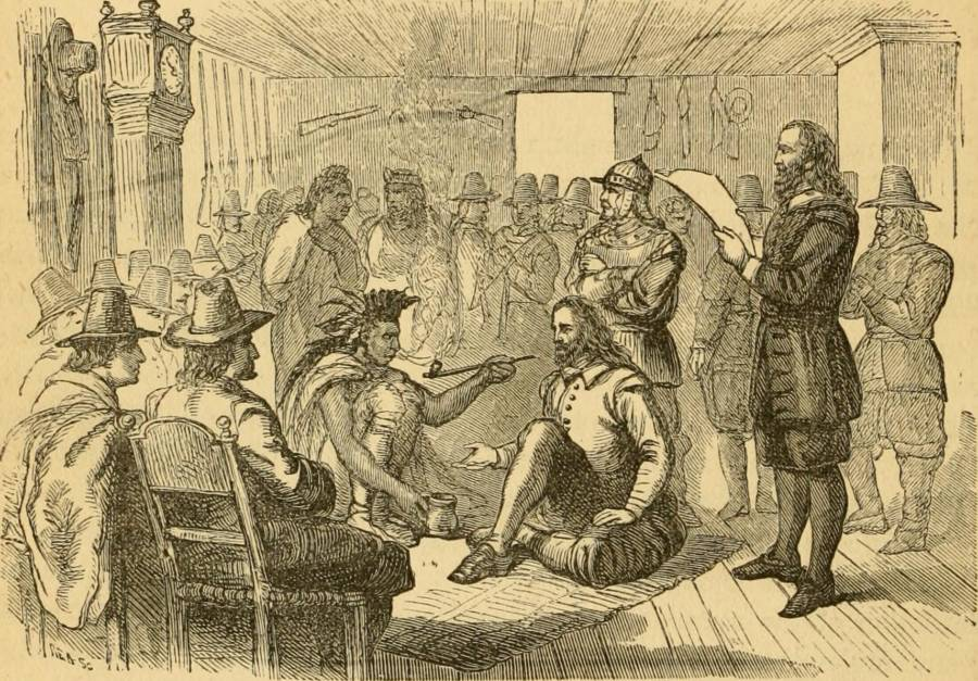 Pilgrims And Wampanoag