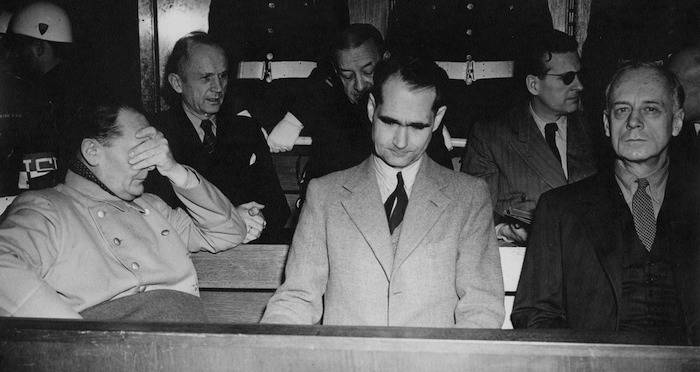 Rudolf Hess In Nuremberg Trials 02