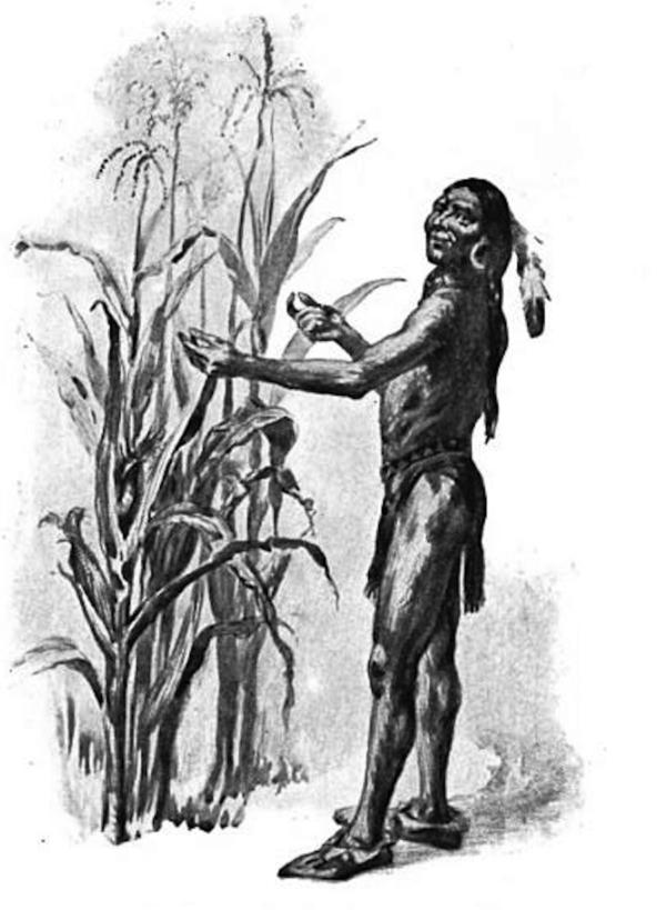 Squanto Planting Corn