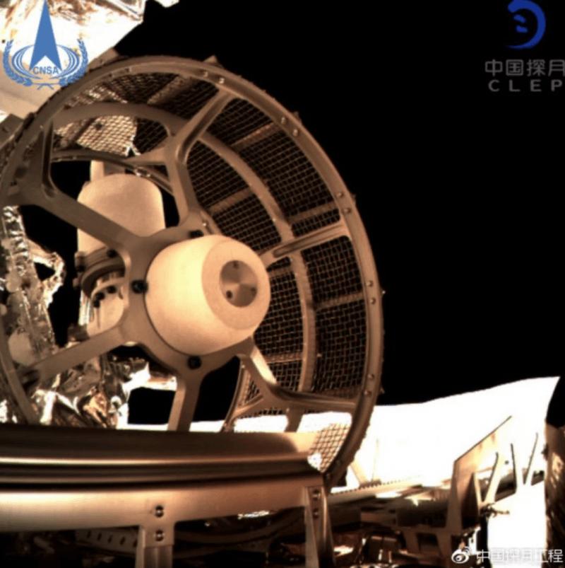 Wheels Traversing Lunar Surface
