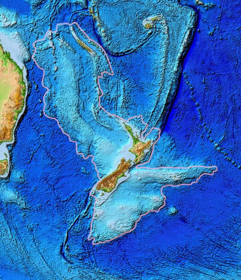 Zealandia Topography